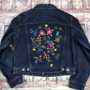 Liz Claiborne Embroidered Denim Jacket